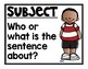 Subject/Verb Posters