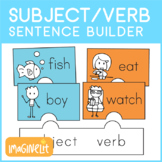 Subject Verb Sentence Builder Puzzle