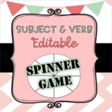 Subject Verb Spinner Game (Editable Spinner Included!)