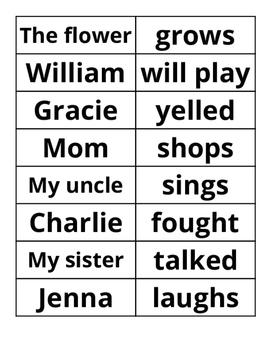 Subject - Verb Word Sort