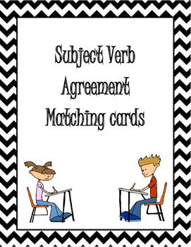 Subject Verb agreement matching cards