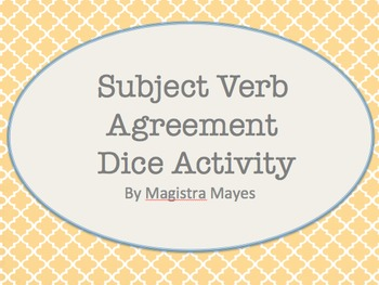 Subject Verb/Agreement