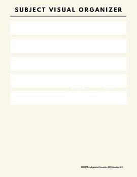 Subject Visual Organizer