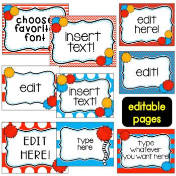 Behavior Chart Whimsical~ Editable