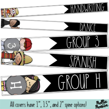 Subject and Group Binder Covers & Spines