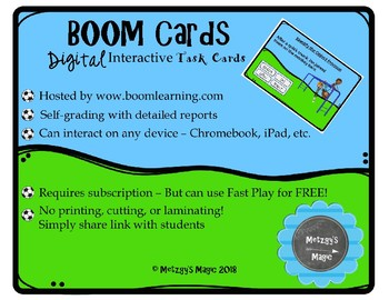 Subject and Object Pronouns Digital Boom Cards Task Cards