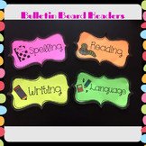 Subject and Objective Bulletin Board Headers