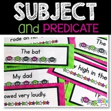 Subject and Predicate Literacy Center