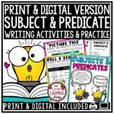 Subject and Predicate Activities- 3rd Grade, 4th Grade
