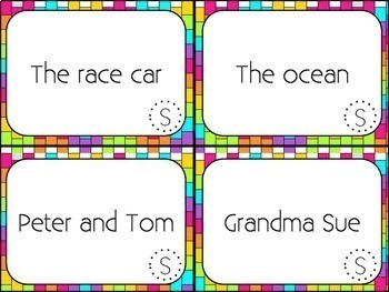 Subject and Predicate Activities