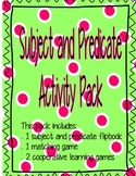 Subject and Predicate Activity Pack