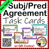 Subject and Predicate Agreement Task Cards w/ QR Codes