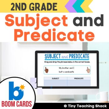 Subject and Predicate Boom Cards Distance Learning