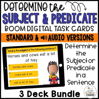 Subject and Predicate Boom Cards Bundle