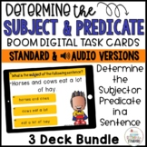 Subject and Predicate Boom Cards Bundle Distance Learning