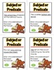 Subject and Predicate Activity Game and Task Cards