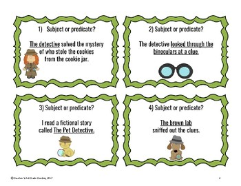 Subject and Predicate Detective Scoot!