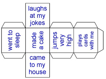 Subject and Predicate Dice Roll