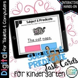 Subject and Predicate Digital Task Cards - Paperless for G