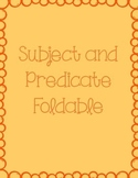 Subject and Predicate Foldable Interactive Notebook Page