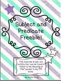Subject and Predicate Freebie!