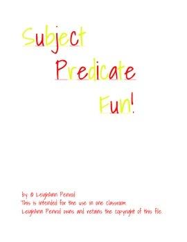 Subject and Predicate Fun!