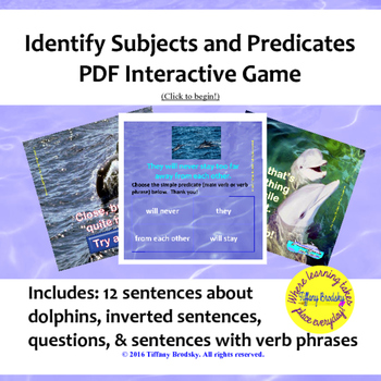 Subject and Predicate Interactive Game
