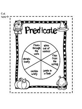 Subject and Predicate Halloween Game