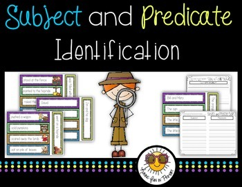 Subject and Predicate Identification