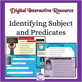 Subject and Predicate Interactive Google Drive