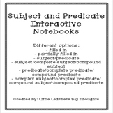 Subject and Predicate Interactive Notebooks