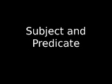 Subject and Predicate Intro (ASL)