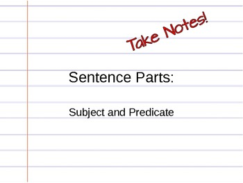 Subject and Predicate Introduction