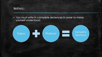Subject and Predicate Lesson with Interactive Notes