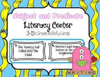 Subject And Predicate By Elementary Lesson Plans