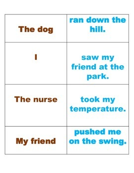 Subject and Predicate Quiz-Quiz-Trade