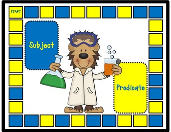 Subject and Predicate Game and Activities:  Monkeying Around