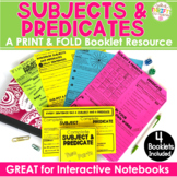 Simple Subject & Simple Predicate Complete Subject & Predicate Print & Fold