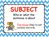 Subject and Predicate Poster