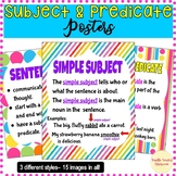 Subject and Predicate Posters