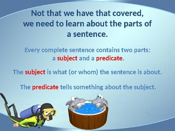 Subject and Predicate Power Point Show