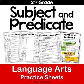 Subject and Predicate Practice Pages L.2