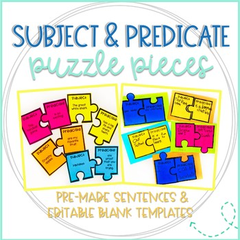 Subject and Predicate Puzzle Pieces