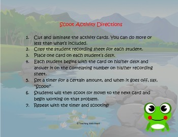 Subject and Predicate Scoot Activity/Task Cards (Lower Elementary)