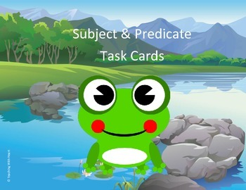 Subject and Predicate Scoot Activity/Task Cards (Lower Ele