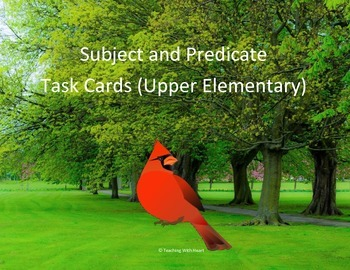Subject and Predicate Scoot Activity/Task Cards (Upper Ele