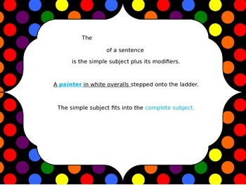 Subject and Predicate-Simple and Complete