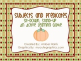 Subjects and Predicates Sit Down Stand Up Active Learning Game
