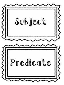 Subject and Predicate Sort