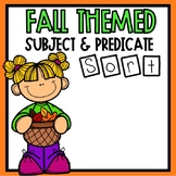 Subject and Predicate Sort Fall Themed